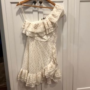 Love Sam Anthropologie dress lace date